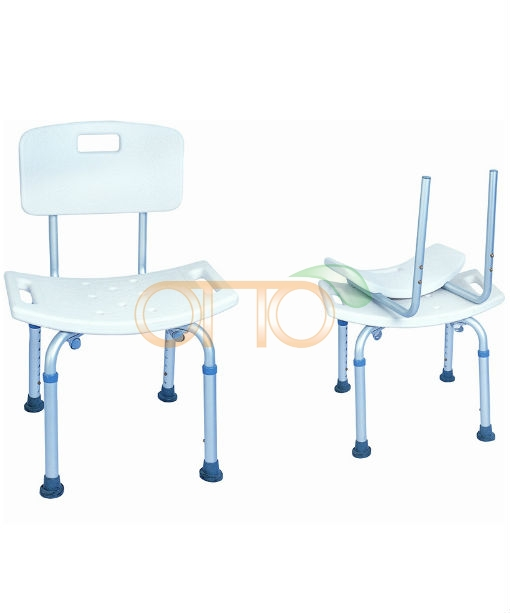 Aluminum Shower Chair With Back Rehabilitation Equipments